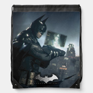 Batman And Oracle Drawstring Bag
