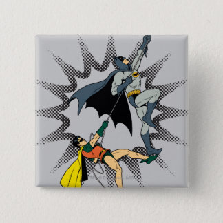 Batman And Robin Climb 15 Cm Square Badge