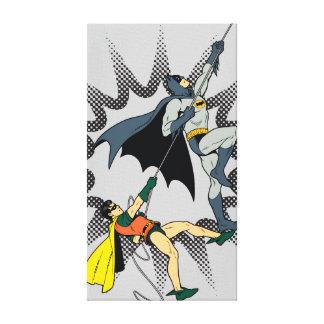 Batman And Robin Climb Canvas Print