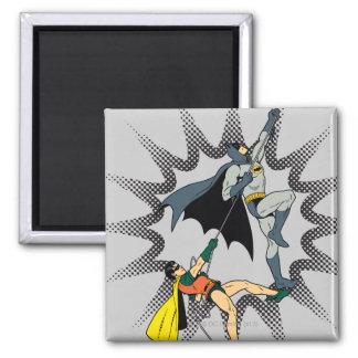 Batman And Robin Climb Fridge Magnets