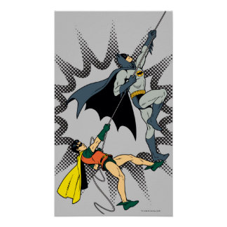 Batman And Robin Climb Poster
