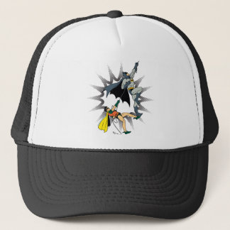 Batman And Robin Climb Trucker Hat
