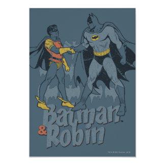 Batman And Robin Distressed Graphic 13 Cm X 18 Cm Invitation Card