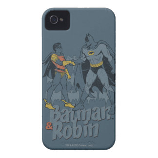 Batman And Robin Distressed Graphic iPhone 4 Cases