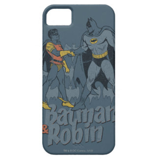Batman And Robin Distressed Graphic iPhone 5 Cover