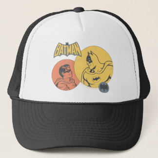 Batman And Robin Graphic - Distressed Trucker Hat