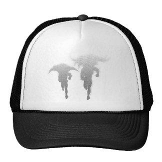 Batman And Robin Halftone Gradient Mesh Hat