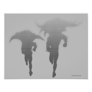 Batman And Robin Halftone Gradient Poster