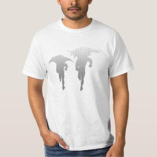 Batman And Robin Halftone Gradient T-Shirt