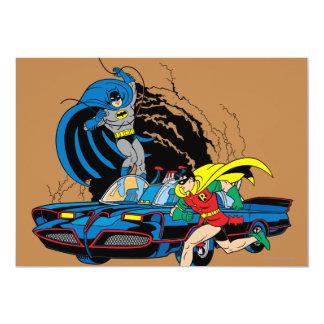 Batman And Robin In Batcave 13 Cm X 18 Cm Invitation Card
