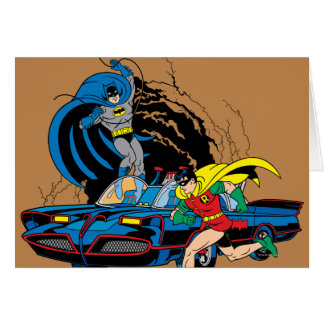 Batman And Robin In Batcave Greeting Card