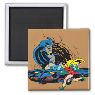 Batman And Robin In Batcave Magnet