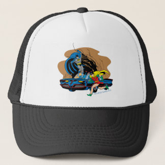 Batman And Robin In Batcave Trucker Hat