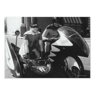 Batman and Robin in Batcycle 13 Cm X 18 Cm Invitation Card