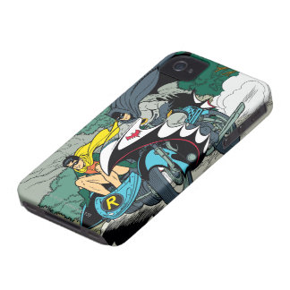 Batman And Robin In Batcycle iPhone 4 Case-Mate Cases