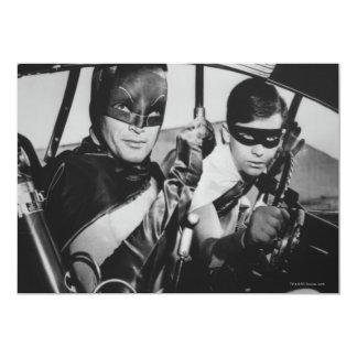 Batman and Robin In Batmobile 13 Cm X 18 Cm Invitation Card