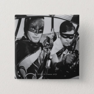 Batman and Robin In Batmobile 15 Cm Square Badge