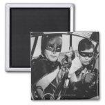 Batman and Robin In Batmobile Fridge Magnet