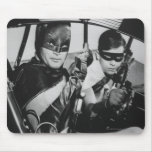 Batman and Robin In Batmobile Mousepads