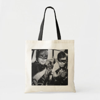 Batman and Robin In Batmobile Tote Bag