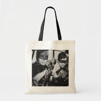 Batman and Robin In Batmobile Tote Bag
