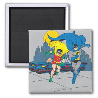 Batman And Robin Running Magnet