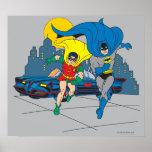Batman And Robin Running Print