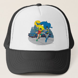Batman And Robin Running Trucker Hat