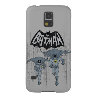 Batman And Robin With Logo Distressed Graphic Galaxy S5 Cover