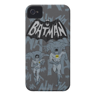 Batman And Robin With Logo Distressed Graphic iPhone 4 Cover