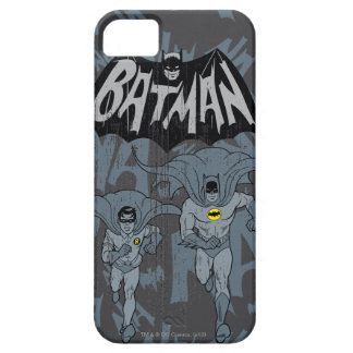 Batman And Robin With Logo Distressed Graphic iPhone 5 Cases
