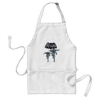 Batman And Robin With Logo Distressed Graphic Standard Apron