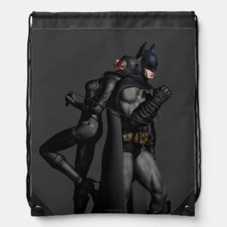 Batman Arkham City | Batman and Catwoman Drawstring Bag