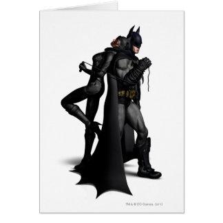 Batman Arkham City | Batman and Catwoman Greeting Card
