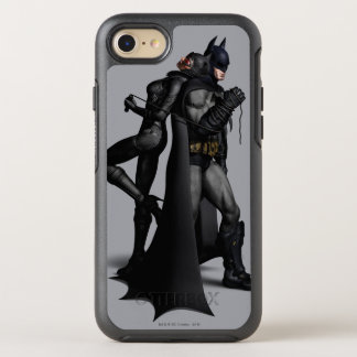 Batman Arkham City | Batman and Catwoman OtterBox Symmetry iPhone 8/7 Case