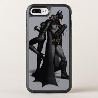 Batman Arkham City   Batman and Catwoman OtterBox Symmetry iPhone 8 Plus/7 Plus Case