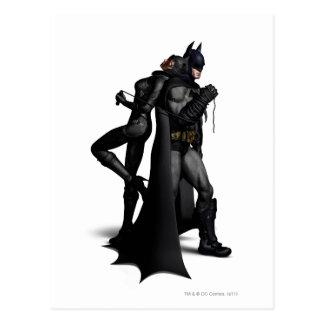 Batman Arkham City | Batman and Catwoman Postcard