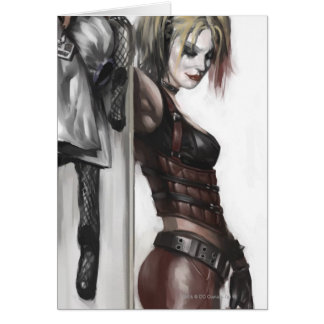Batman Arkham City | Harley Quinn Illustration Greeting Card