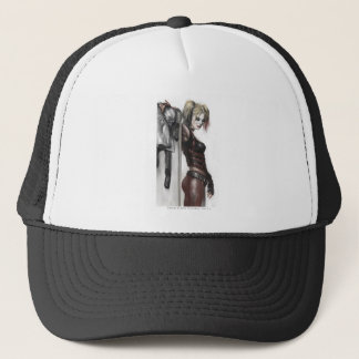 Batman Arkham City   Harley Quinn Illustration Trucker Hat