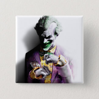 Batman Arkham City   Joker 15 Cm Square Badge