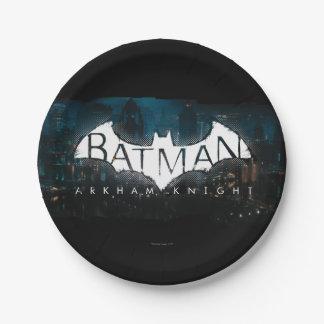 Batman Arkham Knight Gotham Logo 7 Inch Paper Plate