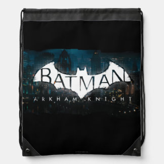 Batman Arkham Knight Gotham Logo Drawstring Bag