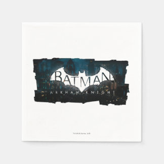 Batman Arkham Knight Gotham Logo Paper Napkin