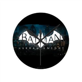 Batman Arkham Knight Gotham Logo Round Clock