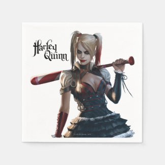 Batman Arkham Knight | Harley Quinn with Bat Disposable Serviettes