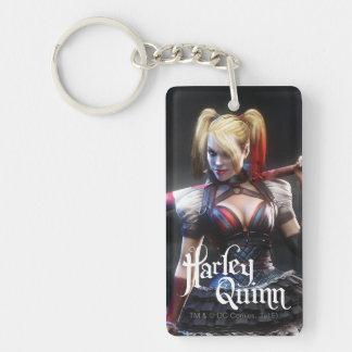 Batman Arkham Knight | Harley Quinn with Bat Double-Sided Rectangular Acrylic Key Ring