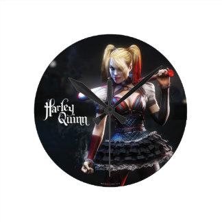 Batman Arkham Knight | Harley Quinn with Bat Round Clock