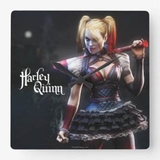 Batman Arkham Knight | Harley Quinn with Bat Square Wall Clock