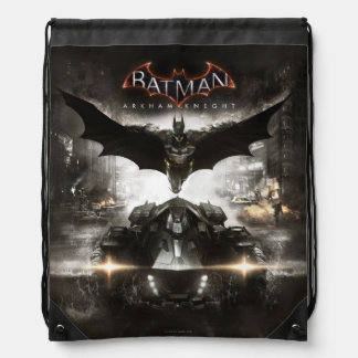 Batman Arkham Knight Key Art Drawstring Bag