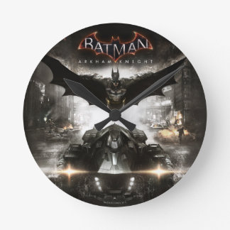 Batman Arkham Knight Key Art Round Clock